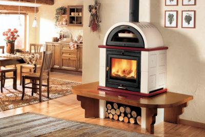 La estufa de leña con horno: el placer de cocinar mientras calientas la vivienda