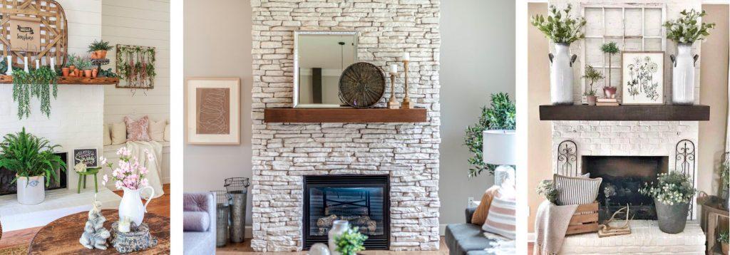 ©Pinterest.Déjate inspirar por las decoraciones primaverales para tu chimenea,visita nuestra galería en Pinterest dedicada a las ideas de diseño de interiores para esta estación.