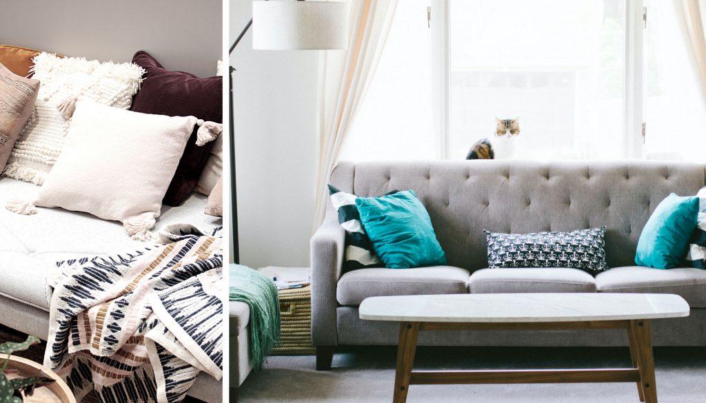 Cómo renovar la casa con las telas, cambia los tejidos del salón