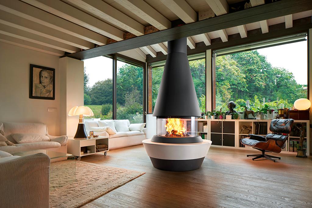 Chimenea panorámica Bergen de Piazzetta Design